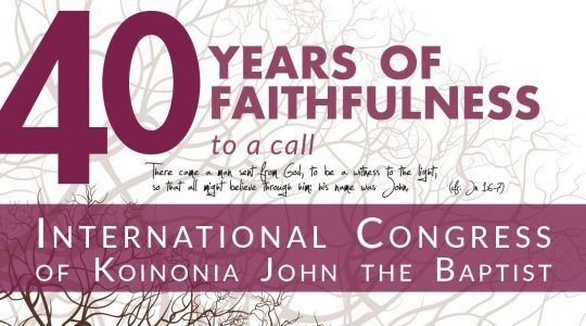 "Congress 2019 ""40 years of faithfulness to a call"""
